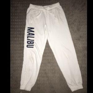 white malibu sweatpants ☻